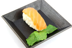 Sushi made ​​from Tuna Fish on the dish. Stock Photo