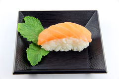Sushi made from Tuna Fishs on the dish. Stock Images