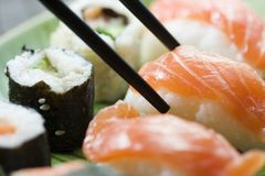 Sushi and maki Royalty Free Stock Images