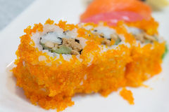 Sushi maki California rolls with selective focus point Stock Photo