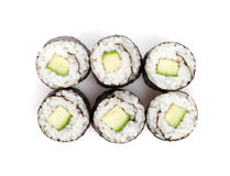 Sushi maki with cucumber Stock Photography