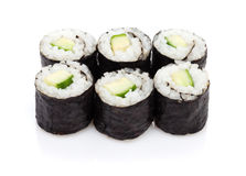 Sushi maki with cucumber Stock Photos