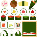Sushi Maki (gerollte Sushi) Stockfoto