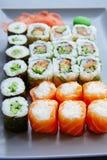 Sushi Maki and Niguiri California roll Royalty Free Stock Image