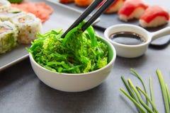 Sushi Maki and Niguiri soy sauce California roll Stock Photos