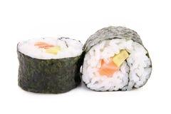 Sushi maki roll. Isolated on white stock image