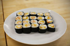 Sushi maki rolls Royalty Free Stock Photos