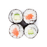 Sushi maki with salmon and cucumber Stock Image