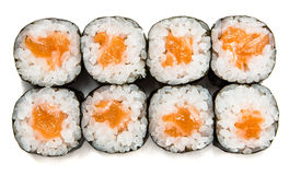 Sushi Maki With Salmon Stock Images