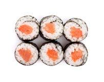 Sushi maki with salmon Stock Photo