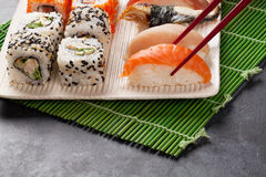Sushi and maki set Stock Images