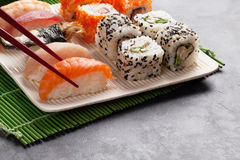 Sushi and maki set Royalty Free Stock Photo