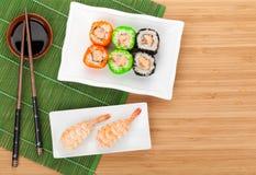 Sushi maki and shrimp sushi Stock Photography