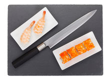 Sushi maki and shrimp sushi Royalty Free Stock Photos