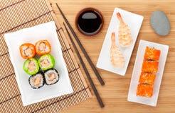 Sushi maki and shrimp sushi Stock Image