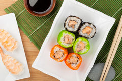 Sushi maki and shrimp sushi Stock Images