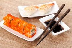 Sushi maki and shrimp sushi Stock Photo