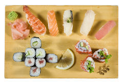 Sushi and Maki Sushi Combination Royalty Free Stock Photos