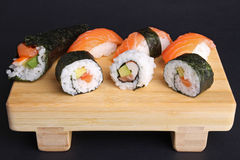 Sushi, maki and temaki sushi Stock Image
