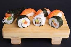 Sushi, maki and temaki sushi Stock Image