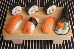 Sushi,maki and temaki sushi Royalty Free Stock Photo
