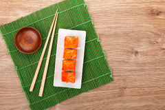 Sushi maki with tobiko Stock Photo