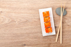 Sushi maki with tobiko Royalty Free Stock Photography