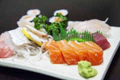Sushi - mariscos japoneses Fotos de archivo