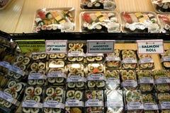 Sushi in market Stock Photos