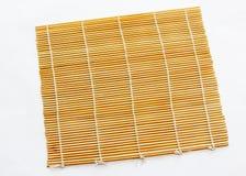 Sushi Mat. Bamboo rolling mat for sushi making Royalty Free Stock Photography