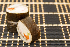 Sushi on the mat Royalty Free Stock Images