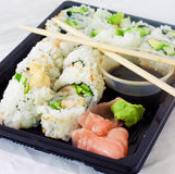 Sushi Meal. A take out sushi meal Stock Photography