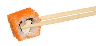 Sushi med den röda kaviaren Fotografering för Bildbyråer