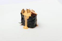 Sushi med ost som isoleras på vit Royaltyfria Foton