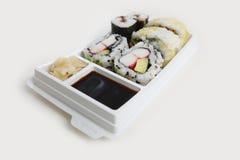 Sushi meeneem stock foto