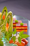 Sushi-Mehrlagenplatte Lizenzfreies Stockbild