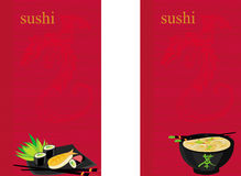 Sushi menu Stock Images