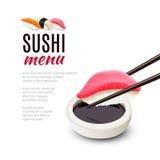 Sushi Menu Background Stock Photos