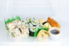 Sushi menu in an box Royalty Free Stock Image