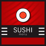 Sushi menu vector illustration