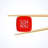 Sushi menu cover template Royalty Free Stock Images