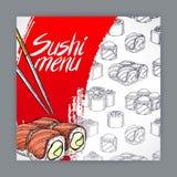 Sushi menu Stock Image