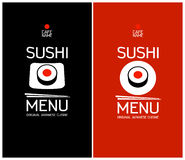 Sushi menu design template. Stock Images