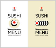 Sushi menu design template. Royalty Free Stock Photography