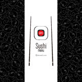 Sushi menu. Flat design Royalty Free Stock Photos