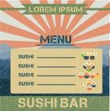 Sushi menu Royalty Free Stock Photo