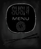 Sushi menu Royalty Free Stock Photography