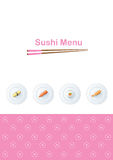 Sushi menu template Stock Photos