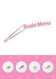 Sushi menu template Stock Image
