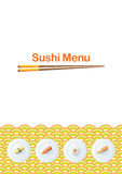 Sushi menu template Stock Photography